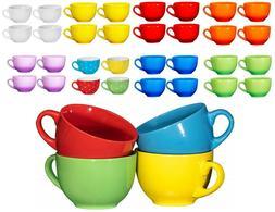 Bruntmor Wide Ceramic Tea Coffee Mug Set 24 Ounce Jumbo Soup