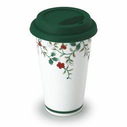 Pfaltzgraff Winterberry Porcelain Travel MUG New Box List $2