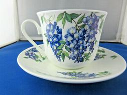WYSTERIA BREAKFAST CUP SAUCER fine bone china Made in Englan