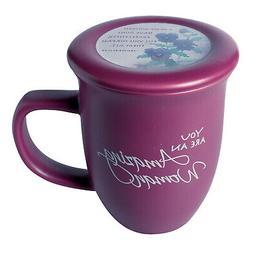 Amazing Woman Mug And Coaster/Lid - Ceramic - Large 14 Ounce