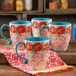 The Pioneer Woman Vintage Floral 26 oz Jumbo Latte Mug Set S