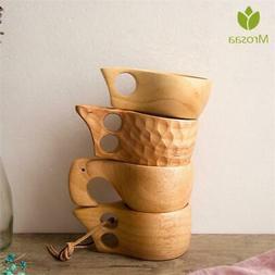 Wood Coffee Mug Rubber Wooden Tea Milk Cups