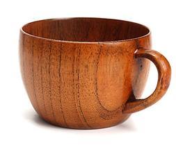 Emoyi Wood Coffee Mug Wooden Mug Tea Cup 100ml,Set of 2