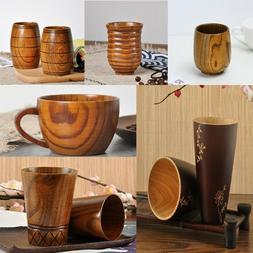 Wooden Cup Primitive Handmade Natural Wood Coffee Tea Drinki