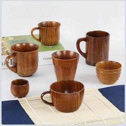Wooden Cup Primitive Handmade Natural Wood Coffee Tea Wine D