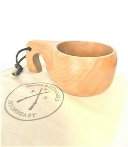 Woodsman's Cup. Wooden cup Lapland Finland  Kuksa Wood Tea C