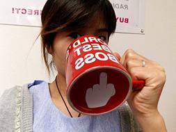 World's Best Boss Mugs Cute Ceramic Mug - Funny Ceramic Coff