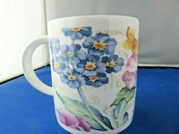 WORLD of FLOWERS set TWO  FINE BONE CHINA mugs Made In Engla