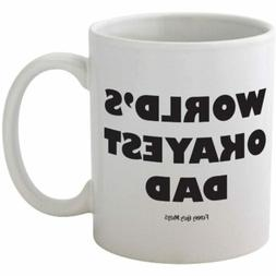 Funny Guy Mugs World's Okayest Dad Ceramic Coffee Mug, White