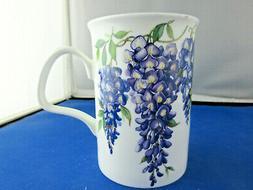 WYSTERIA free shipping FINE  BONE CHINA mug Roy Kirkham,made