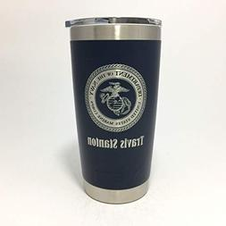 YETI Rambler Laser Engraved with US Marine Corps Seal