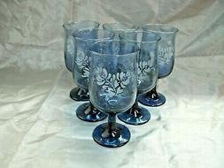 "Pfaltzgraff YORKTOWNE Set of 6-5 5/8"" 8 oz Wine Glasses Gobl"