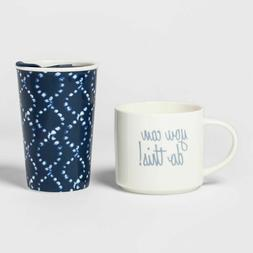 You Can Do This  Mug Set Threshold 2 Pack Travel Mugs Dishwa