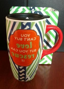 YOU CANT BUY LOVE YOU CAN RESCUE IT Ceramic Coffee Mug/Cup w