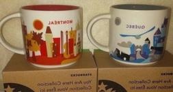 Starbucks You Are Here Collection Montreal & Quebec City Mug