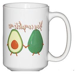 You Complete Me - Avocado Vegetable Humor Coffee Mug