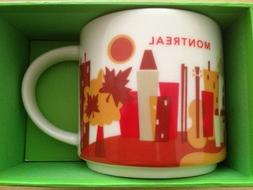 Starbucks You Are Here Montreal  Mug Brand New Release